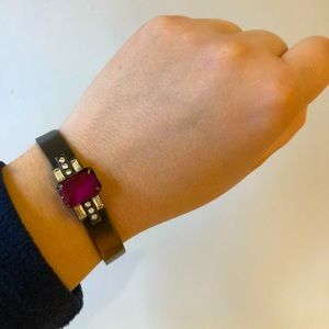 NWOT Loren Hope Cuff Bracelet Electric Purple